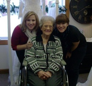 Me and my sister, Rachael, with Great-Grandma Near.