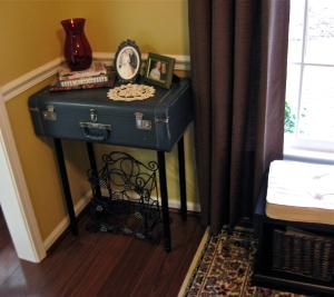 Suitcase side table!