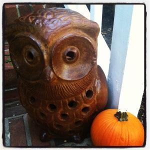 Clay Owl Lantern